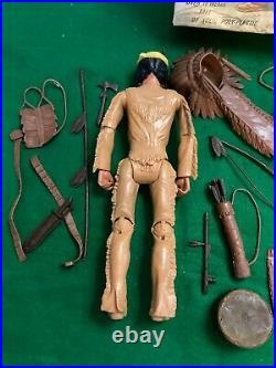 Marx Chief Cherokee Johnny West 1960's Action Figure With Lots Of Acc