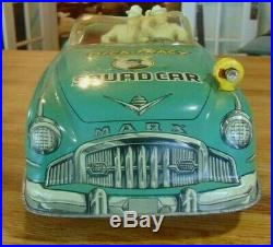 Marx Dick Tracy Friction Squad Car with 2 figures, 20 inches long