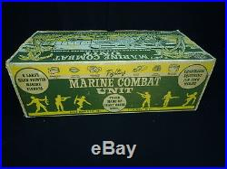 Marx Fighting Marine Combat Unit truck play set box and 6 hand painted figures