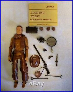 Marx Johnny West 1965 with box and the Encyclopedia of Marx Action Figures