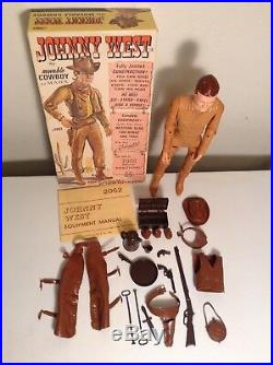 Marx Johnny West Best Of The West Action Figure Accessories Box 100% Complete