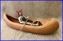 Marx Johnny West Canoe Rare UK Only / Chief Cherokee Indian U. K. Figure