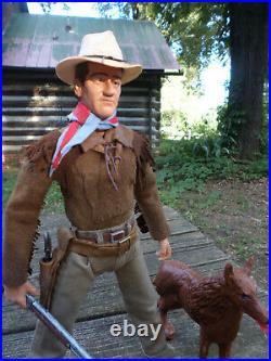 Marx Johnny West Custom Hondo John Wayne Hondo Lane And Sam! Figure Set