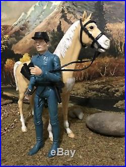 Marx Johnny West figure Zeb Zackary & Thunderbolt 1960s