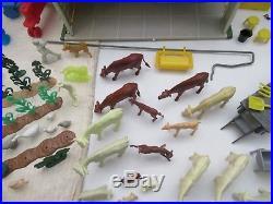 Marx Lazy Day Farmtin Litho Barn200+ Pcsextrasfiguresanimalsplayset Mag 18