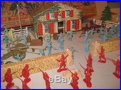Marx No. 3401 Series 500 Revolutionary War Playset With 54mm Figures (1957)