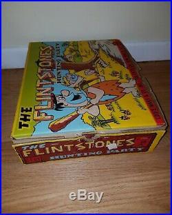 Marx The Flintstones Hunting Party Playset Original Box RARE figures dinosaurs