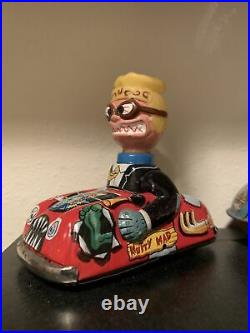 Marx Vintage 1964 Nutty Mads Red Car Monster Sci-fi Figure Toy Man Cave