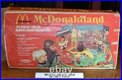 McDonaldland Set W Figures Ronald McDonald Remco Playset 1976