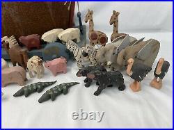 Millwood Toy Co Noah's Ark Pull Toy Signed Barry Grosscup 1994 + 59 Figures