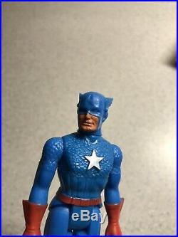 Minty VINTAGE 1980 POCKET SUPER HEROS Captain America Action figure MEGO Toy