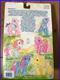 My Little Pony Sugarberry G1 Twice as Fantasy Blister Figure Toy Vintage 1986