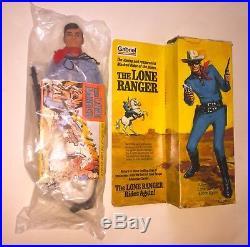 NEW 70s GABRIEL LONE RANGER TV SHOW 1975 VTG MIB Doll in box FIGURE Marx Hubley