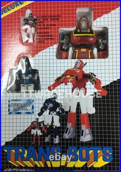 NEW RED POPY TRANS-BOTS Toy Set Die Cast Metal Robot Bootleg Vintage Figure