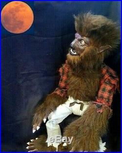 New Lon Chaney Wolfman Ventriloquist Figure Dummy Custom 1 Of A Kind Hallloween