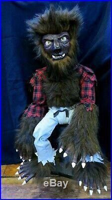 New Lon Chaney Wolfman Ventriloquist Figure Dummy Custom Hand Built 1 Of A Kind
