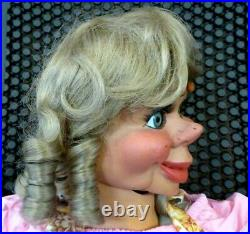 New Multi-function Pro Ventriloquist Figure Crossing Centering Eyes Eyebrows
