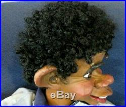New Multi-function Ventriloquist Figure Dummy Crossing Eyes Rasing Eyebrows