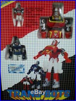 New Red Popy Trans-Bots Set Die Cast Metal Robot Bootleg Vintage Toy Figure