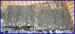 Old time metal mold figures