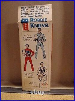 Original Vintage 1976 Ideal Robbie Knievel 7 Bendy Action Figure. MIB RARE