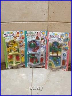 Pokemon Chibi Poke House total 3 water, town, mountain eevee vintage(1997) Toy