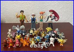 Pokemon Tomy Lot of 30 1999 90s Vintage Toys Figures Ash Brock Misty Gengar Mew