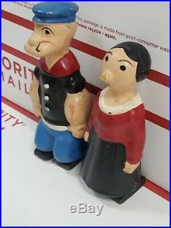 Popeye & Olive Oyl Ramp Walker Wood Vintage Antique Walking Figures 1939
