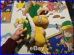 RARE 2002 Play by Play Super Mario Bowser Plush Toy Doll VTG HTF Nintendo Figure