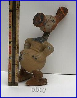 RARE Antique Rubber Toy Figure DONALD DUCK Vintage COMPLETE 2 Piece 1930s Disney