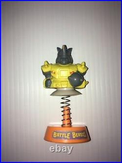 RARE Battle Beasts Jump Up Rocky Rhino Vintage Toy Figure