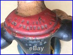 RARE HUBLEY cast iron POPEYE patrol motorcycle rider figure 1930s vintage toy