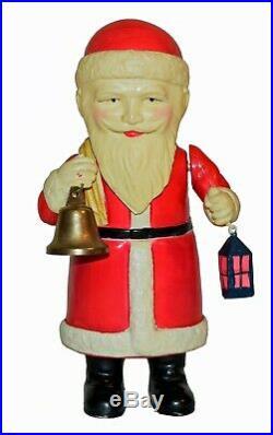 RARE Large Prewar Japan Celluloid Windup Santa Claus WORLDWIDE SHIPPING