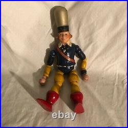 RCA RADIOTRONS JOINTED WOODEN ADVERTISING FIGURE The Selling Fool