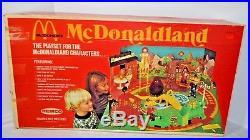 REMCO McDonaldland McDonald's Playset plus Figures 1976