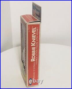 ROBBIE KNIEVEL figure withhelmet IDEAL 1976 The Teenage Stuntman MIB Ultra Rare