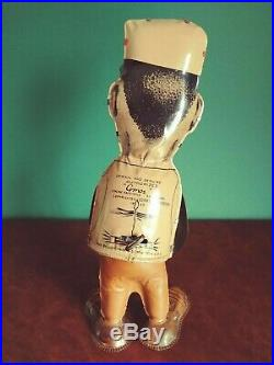 Rare 1930's Large Marx Toys Tin Wind-up Fresh Air Taxi Amos Walker Figure Andy