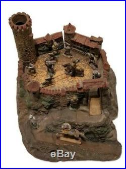 Rare 1930s Elastolin Composition Germany Castle With Figures
