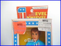 Rare 1976 Ideal Evel Knievel Flexible Action Figure Mint In Box NOS & Coin