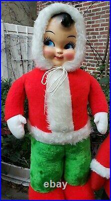 Rare Christmas Santa helper Snowbaby Elf Pixie Rushton Harold Gale stuffed toy