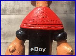 Rare HUBLEY cast iron POPEYE doorstop vintage 1930s figure toy antique door stop