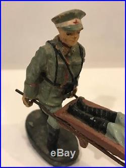 Rare TIPPCO WW2 German Military AMBULANCE Tin Wind-up Plus Figures, Tipp & Co