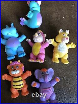 Rare Vintage 1985 Disney THE WUZZLES Lot of 6 Toy Figures by Hasbro