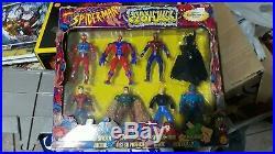 Rare Vintage 1997 Spiderman Toy Biz 8 Piece Figure Set Sealed MIB