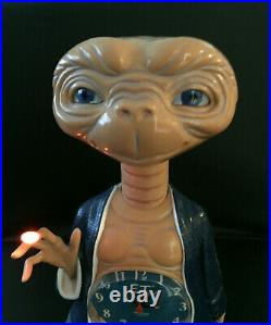 Rare Vintage 80s E. T. Extra Terrestrial Alarm Clock Toy Collectible Alien WORKS