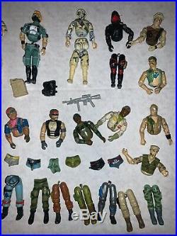 Rare Vintage Gi Joes Action Figure Toy Lot Parts