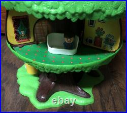 Rare Vtg 1975 General Mills TREE TOTS FAMILY TREEHOUSE withFurniture & Male Figure