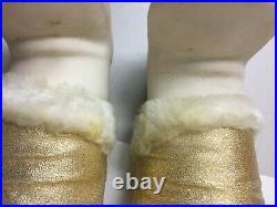 Rushton Star Creation Santa Doll Gold Rubber Face Toy 24 Christmas Vintage