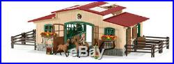 Schleich Stable with Horses and Accessories New Toy Action Figure, G