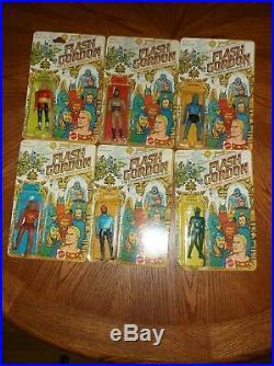 Set Of Six 1979 Mattel Flash Gordon Action Figure Moc Vintage Toy Sci Fi Tv